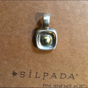 FREE S1280 Silpada Sterling And Gold Pendant
